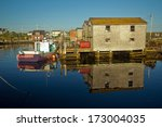wide angle view at sunset of...   Shutterstock . vector #173004035