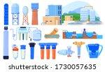 water filter industry set... | Shutterstock .eps vector #1730057635