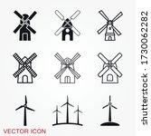windmill icon  wind turbine...   Shutterstock .eps vector #1730062282
