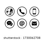 contact us icon. website icon... | Shutterstock .eps vector #1730062708