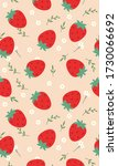 strawberry patterns  red...   Shutterstock .eps vector #1730066692