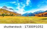 Charming Autumn Scene In Swiss...