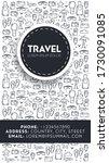 travel sketch. hand draw doodle ... | Shutterstock .eps vector #1730091085