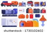 generators set of energy... | Shutterstock .eps vector #1730102602