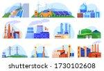 factory power plants set of... | Shutterstock .eps vector #1730102608