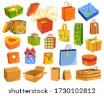 gift boxes isolated on white ... | Shutterstock .eps vector #1730102812