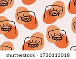 seamless abstract pattern with...   Shutterstock .eps vector #1730113018