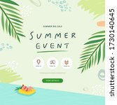summer shopping event... | Shutterstock .eps vector #1730140645