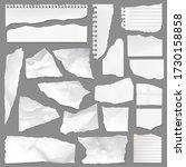 torn note paper scraps  vector... | Shutterstock .eps vector #1730158858
