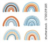 collection of boho rainbows in... | Shutterstock .eps vector #1730159185