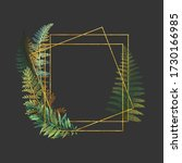 golden geometrical frame with...   Shutterstock . vector #1730166985