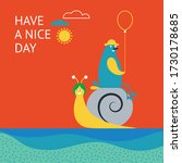 greeting card design. happy... | Shutterstock .eps vector #1730178685