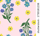 vector seamless pattern with... | Shutterstock .eps vector #1730181238