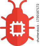 virus   bug button vector icon