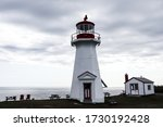 Lighthouse in Cap Gaspe or Land