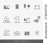 energy and electricity icons ... | Shutterstock .eps vector #173019752