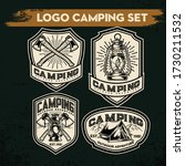 camping and hiking logo design  ... | Shutterstock .eps vector #1730211532