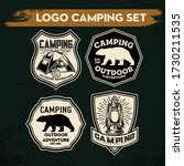 camping and hiking logo design  ... | Shutterstock .eps vector #1730211535