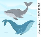 world oceans day card vector... | Shutterstock .eps vector #1730212588