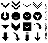 down arrow vector icon set....