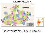 madhya pradesh map. political... | Shutterstock .eps vector #1730235268