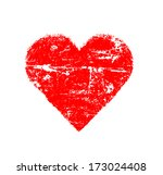 abstract red love symbol on... | Shutterstock . vector #173024408