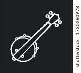 Banjo Chalk White Icon On Black ...
