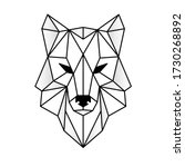 Wolf Head Icon. Abstract...