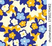 hand drawn artistic naive daisy ...   Shutterstock .eps vector #1730270482