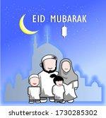 eid celebration concept a...   Shutterstock .eps vector #1730285302