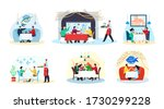 fish restaurant and sea food ... | Shutterstock .eps vector #1730299228