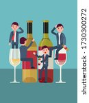 alcohol addiction  people abuse ... | Shutterstock .eps vector #1730300272