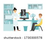 concept x ray female doctor... | Shutterstock .eps vector #1730300578