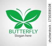 green butterfly leaf template... | Shutterstock .eps vector #1730308108