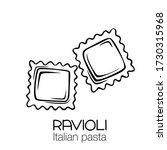ravioli pasta outline icon.... | Shutterstock .eps vector #1730315968
