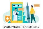 online doctor support via... | Shutterstock .eps vector #1730318812