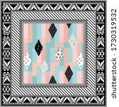 abstract scarf design pattern... | Shutterstock .eps vector #1730319532