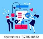 vector creative business... | Shutterstock .eps vector #1730340562
