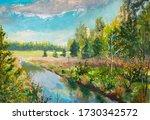 Nature Landscape Oil Painting   ...