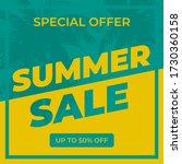 summer sale banner design... | Shutterstock .eps vector #1730360158