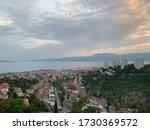 Rijeka city skyline from Trsat Fortress, Croatia.
