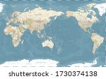 world map   pacific china asia... | Shutterstock .eps vector #1730374138