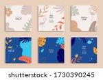summer templates for promo... | Shutterstock .eps vector #1730390245