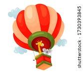 Vector Cartoon Air Balloon...