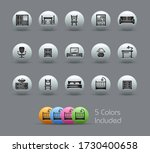furniture icons    pearly series | Shutterstock .eps vector #1730400658