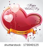 card for valentine's day with... | Shutterstock . vector #173040125
