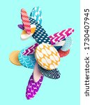 multicolored decorative circles.... | Shutterstock .eps vector #1730407945