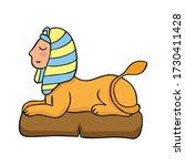 doodle sphinx  vector... | Shutterstock .eps vector #1730411428