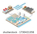 water purification plants in... | Shutterstock .eps vector #1730421358