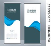 roll up business brochure flyer ... | Shutterstock .eps vector #1730433112